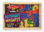 Click here for more information about Wooden Alphabet Magnets