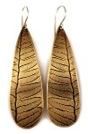 Click here for more information about Leaf Brass Drop Earrings