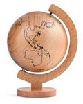 Click here for more information about Wood Desk Globe