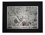 "Click here for more information about Framed Washington, D.C. Streetmap 11"" x 14"""