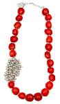 Click here for more information about Exotic Rain Passion Red Huayruro Necklace