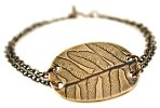 Click here for more information about Leaf Brass Bracelet