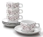 Click here for more information about Brown Season Cup & Saucer Set of Four