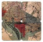 Click here for more information about 1887 Map of Washington D.C. Coaster Set of 4