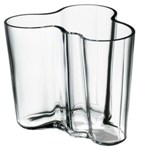 "Click here for more information about Aalto 3.75"" Clear Vase from Iittala"