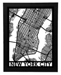 "Click here for more information about Framed New York City Streetmap 18"" x 24"""