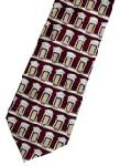 Click here for more information about National Building Museum Windows Tie Burgundy