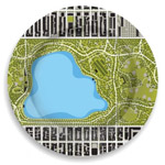Click here for more information about Central Park Reservoir Garden Plate