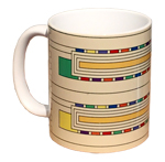 Click here for more information about Usonian Textile Block Mug