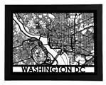 "Click here for more information about Framed Washington, D.C. Streetmap 18"" x 24"""