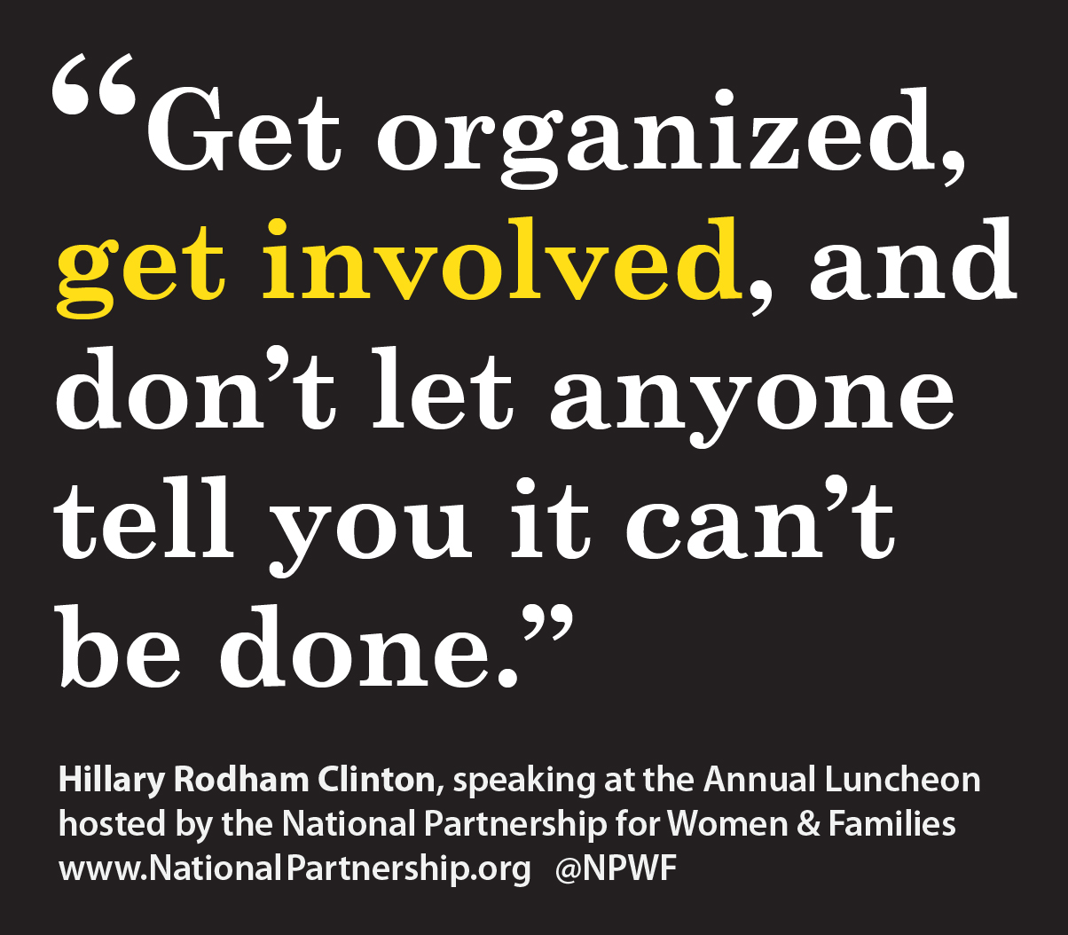 Year-end sticker: HRC quote