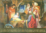 Click here for more information about Nativity Scene - Gold Foil - With Novena