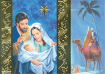 Click here for more information about Nativity Scene - Blue/Foil - Spanish