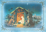 Click here for more information about Nativity Scene - Blue - With Novena