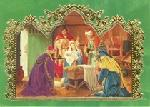 Click here for more information about Nativity Scene - Green/Foil - With Novena