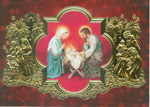 Click here for more information about Nativity Scene- Red/Foil - Spanish