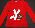 Click here for more information about Adult Men Race To End Duchenne Red Long sleeve Tech Shirt with new Logo