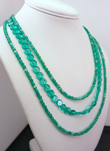 3 Strand Turq Glass NeckLace.jpg