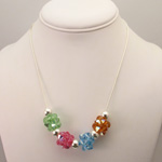 Birthstone Crystal Necklace in Silver