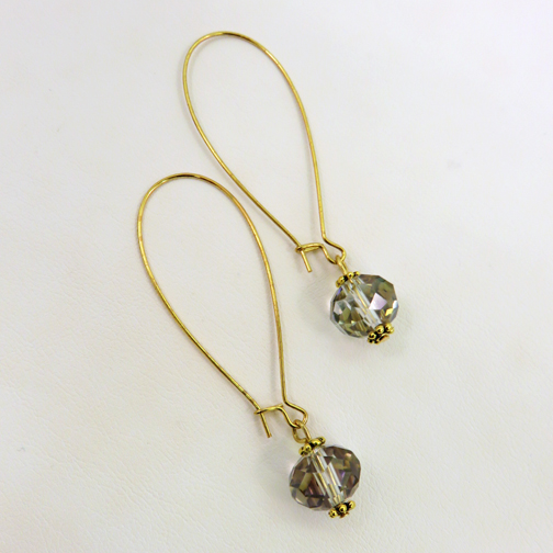 Long Gold Drop Earrings w Smoky Topaz Crystals.jpg