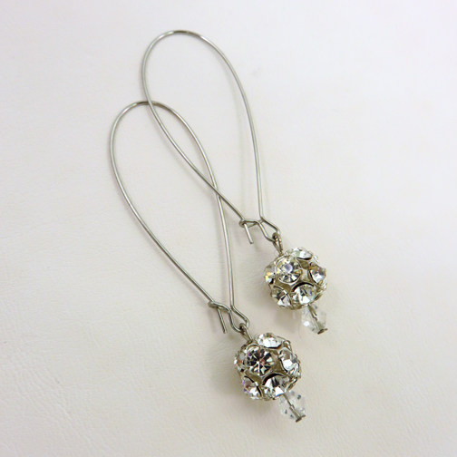 Long Silver Drop Earrings with Rhinestone.jpg
