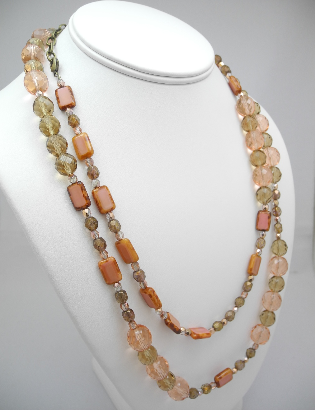 Pink Glass Double Necklace