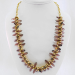 Plume Necklace in Gold