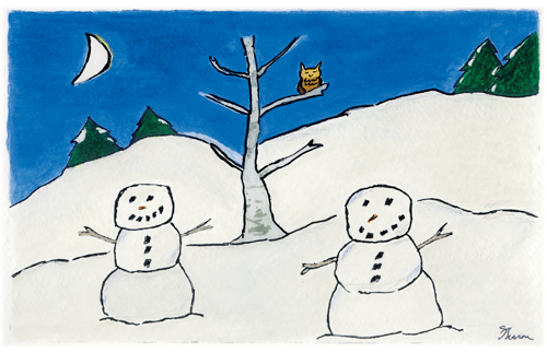 Winter Friends holiday card