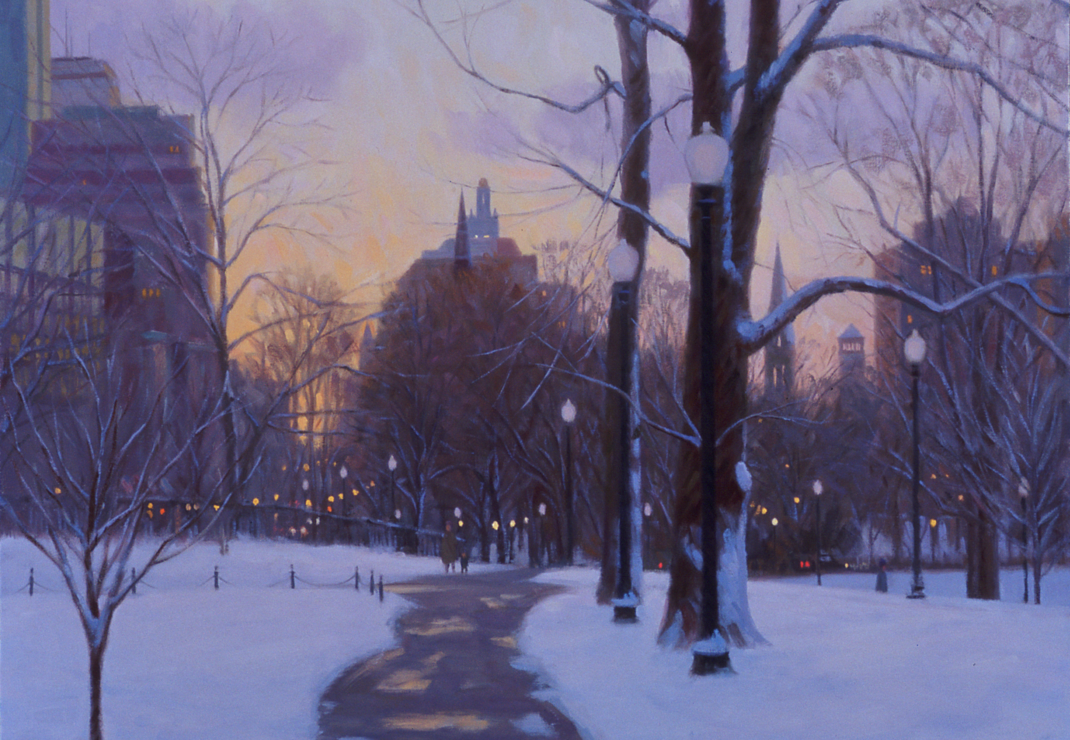Back Bay Winter Twilight