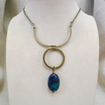 Click here for more information about Long Azurite Necklace