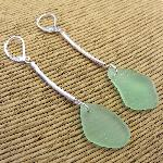 Click here for more information about Long Sea Glass Earrings