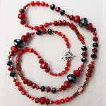 Click here for more information about Red and Black Long Necklace
