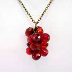 Click here for more information about Cluster Pendant in Red