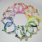 Click here for more information about Colorful Multi Strand Seed Bead Bracelets-Cool Tones