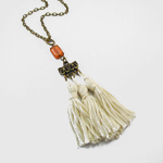 Click here for more information about Ivory Three Tassel Pendant