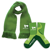 Rails-to-Trails Conservancy Scarf and Socks