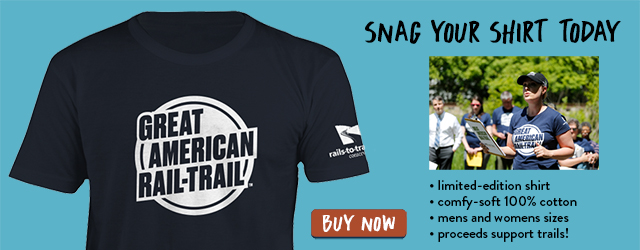Snag Your Great American Rail-Trail T-shirt | Buy Now