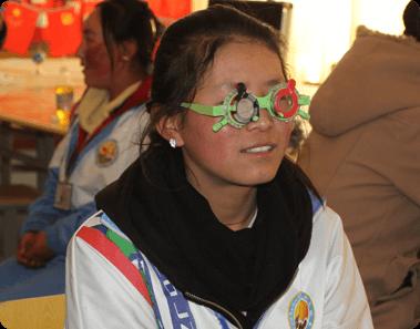Young girl in eye exam