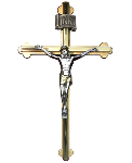 Click here for more information about Two-Tone Metal Crucifix