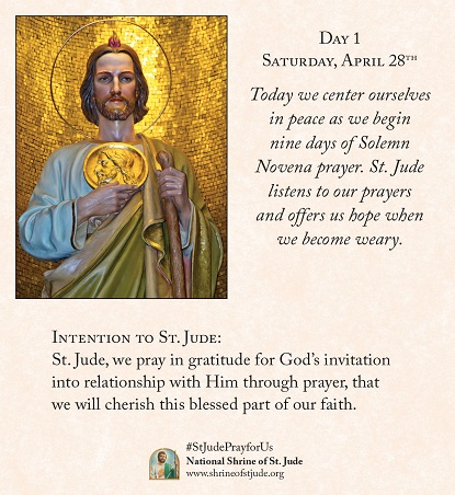 Spring 2018 solemn novena meditations for devotees of the national 2017 spring solemn novena to st jude day 1 thecheapjerseys Images