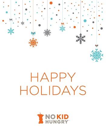 2018 No Kid Hungry Holiday Card