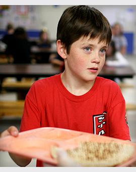 A boy at school