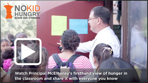 Watch Principal McElhaney's firsthand view of hunger in the classroom and share it with everyone you know.