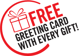 Free greeting card with every gift