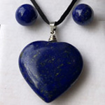Click here for more information about Lapis Post Earrings and Heart Necklace Set