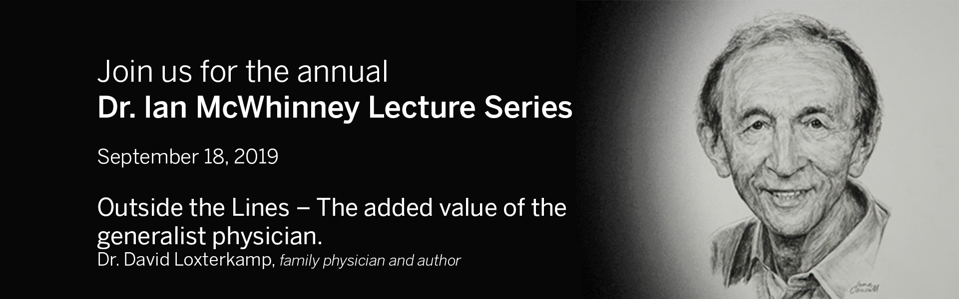 Dr. Ian McWhinney Lecture Series - 2019