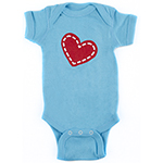 Click here for more information about Le Bonheur Onesie - Teal