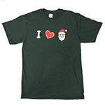 Click here for more information about I Heart Santa T-shirt