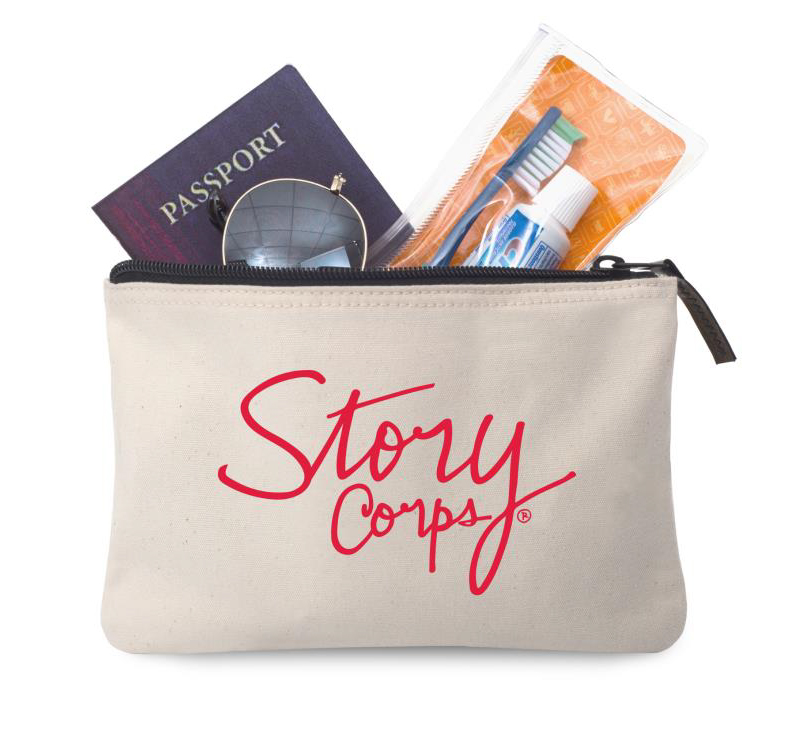Story Corps Canvas Zipper Pouch