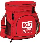 Click here for more information about Lunch Cooler with 90.7 WMFE Logo-Red